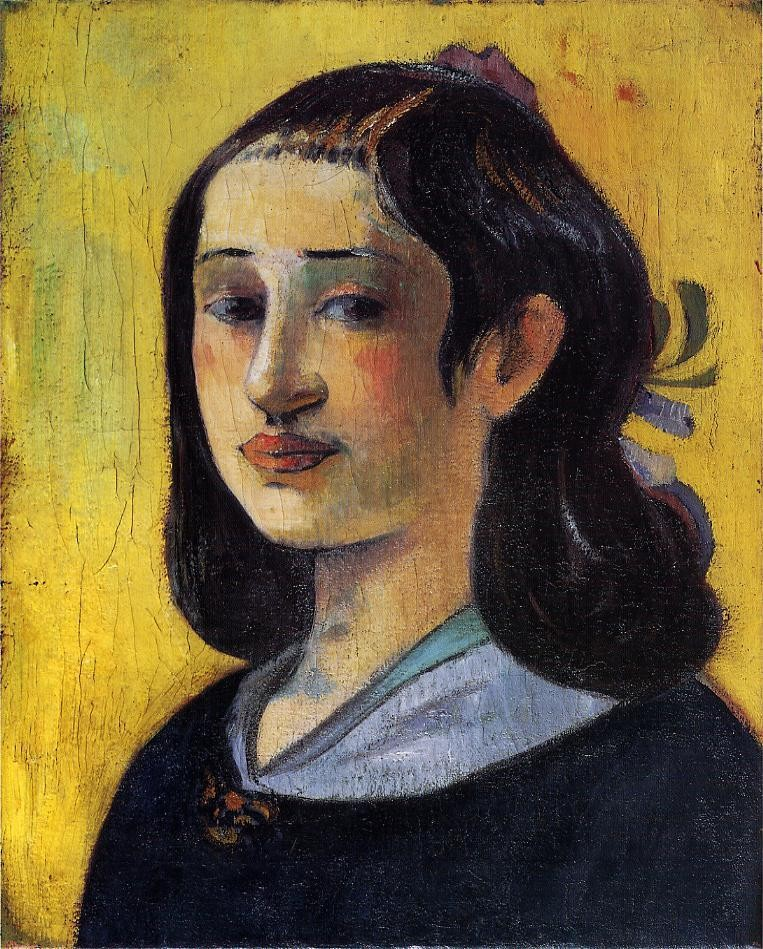 Portrait Of Aline Gauguin by Eugène Henri Paul Gauguin