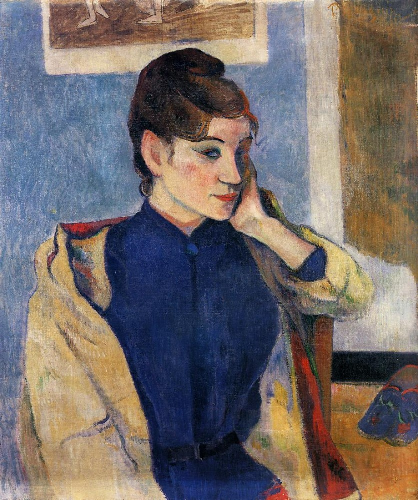 Portrait Of Madeline Bernard by Eugène Henri Paul Gauguin