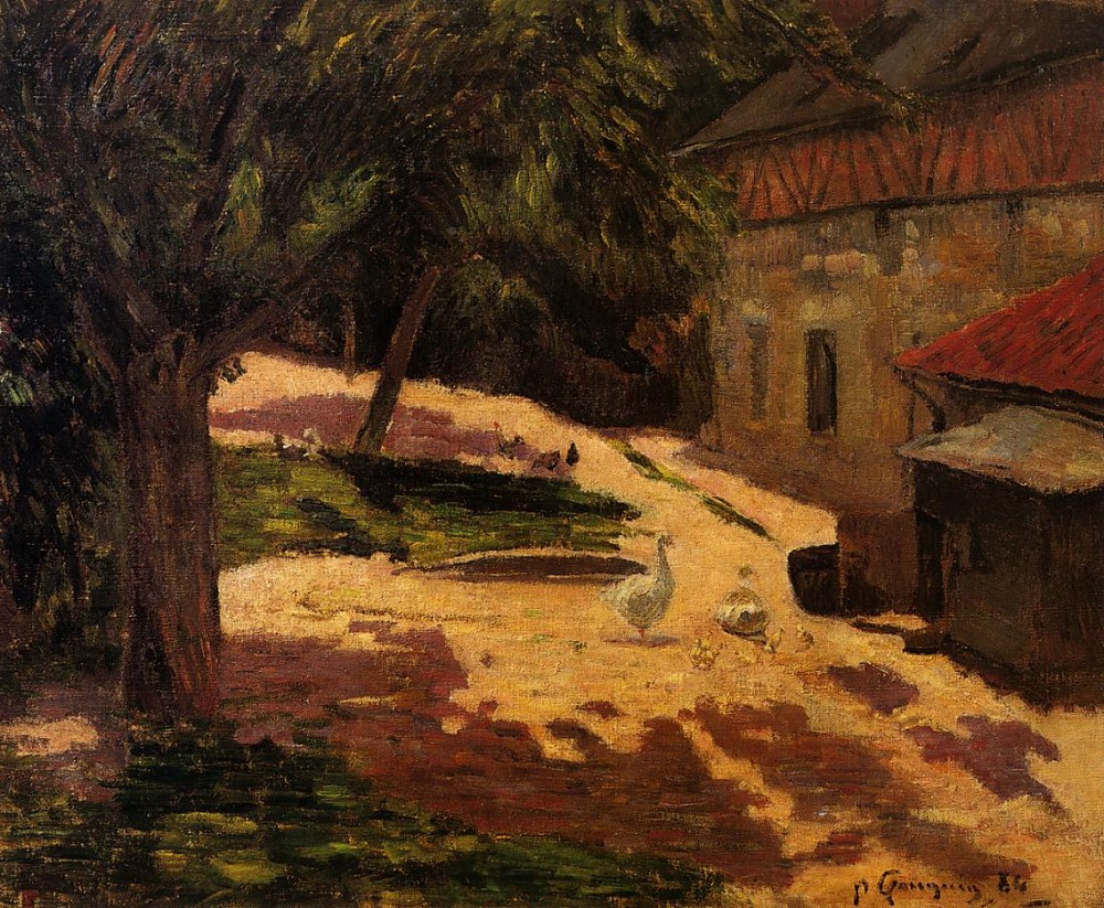 Henhouse by Eugène Henri Paul Gauguin