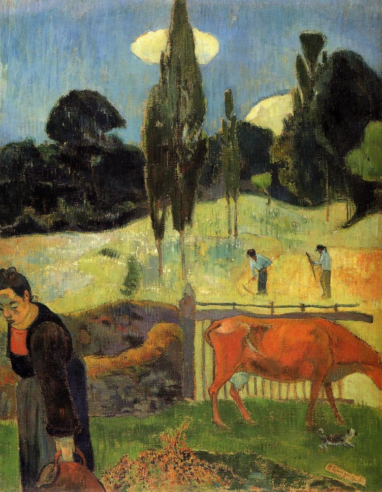 The Red Cow by Eugène Henri Paul Gauguin
