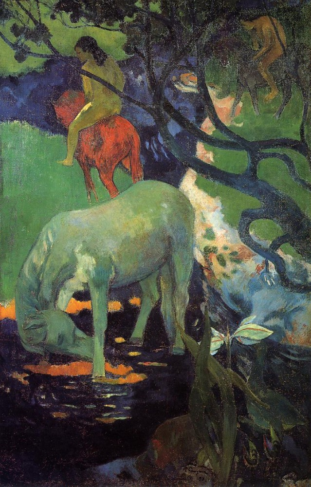 The White Horse by Eugène Henri Paul Gauguin