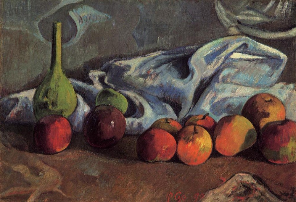 Still Life With Apples And Green Vase by Eugène Henri Paul Gauguin
