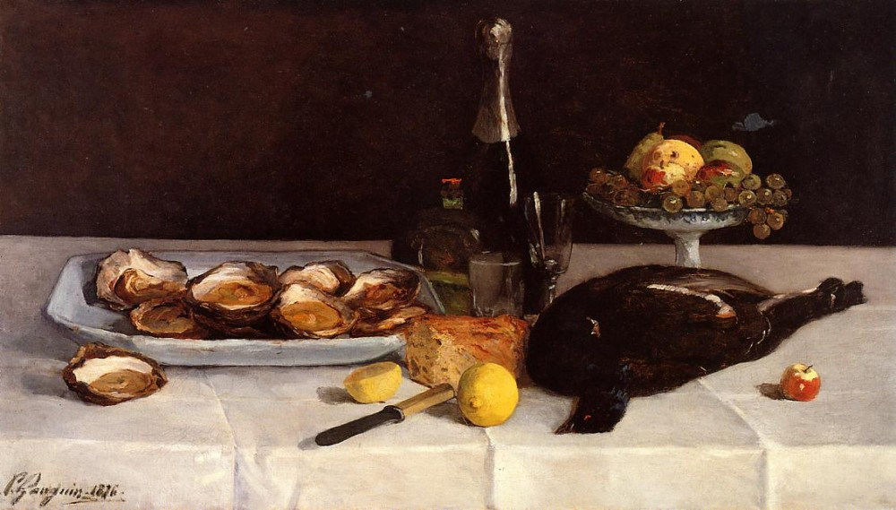 Still Life With Oysters by Eugène Henri Paul Gauguin