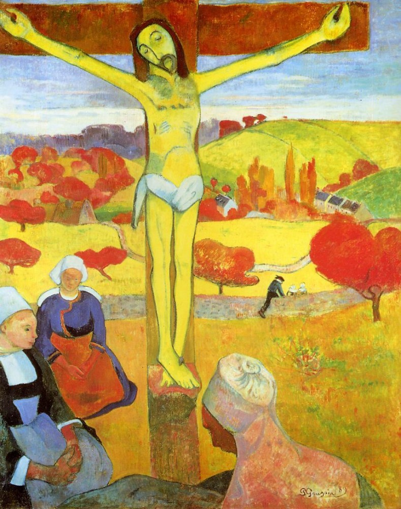Yellow Christ by Eugène Henri Paul Gauguin