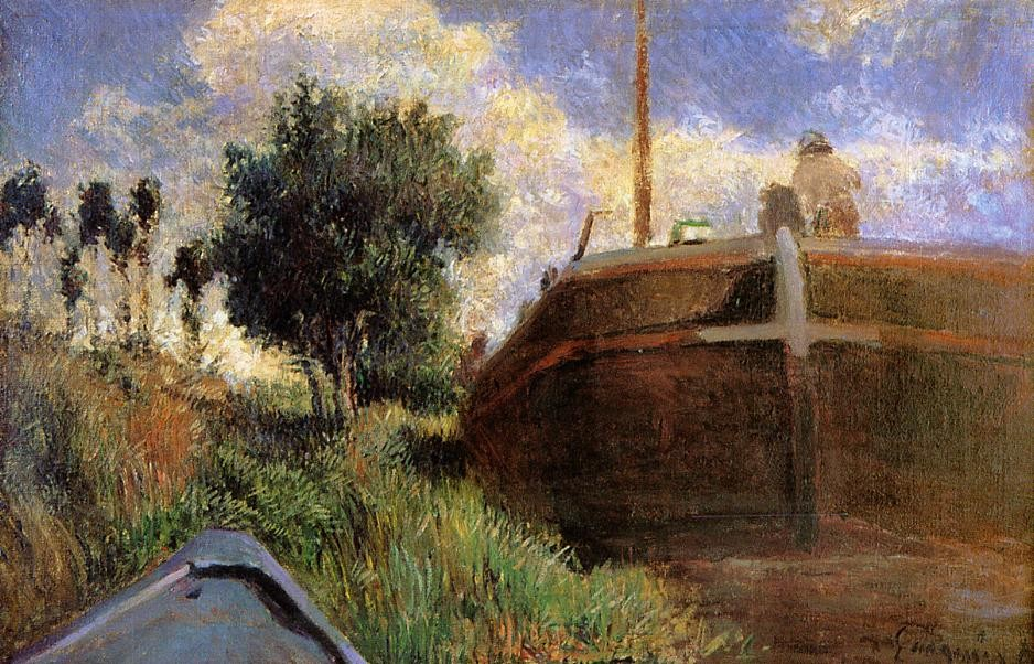 Blue Barge by Eugène Henri Paul Gauguin