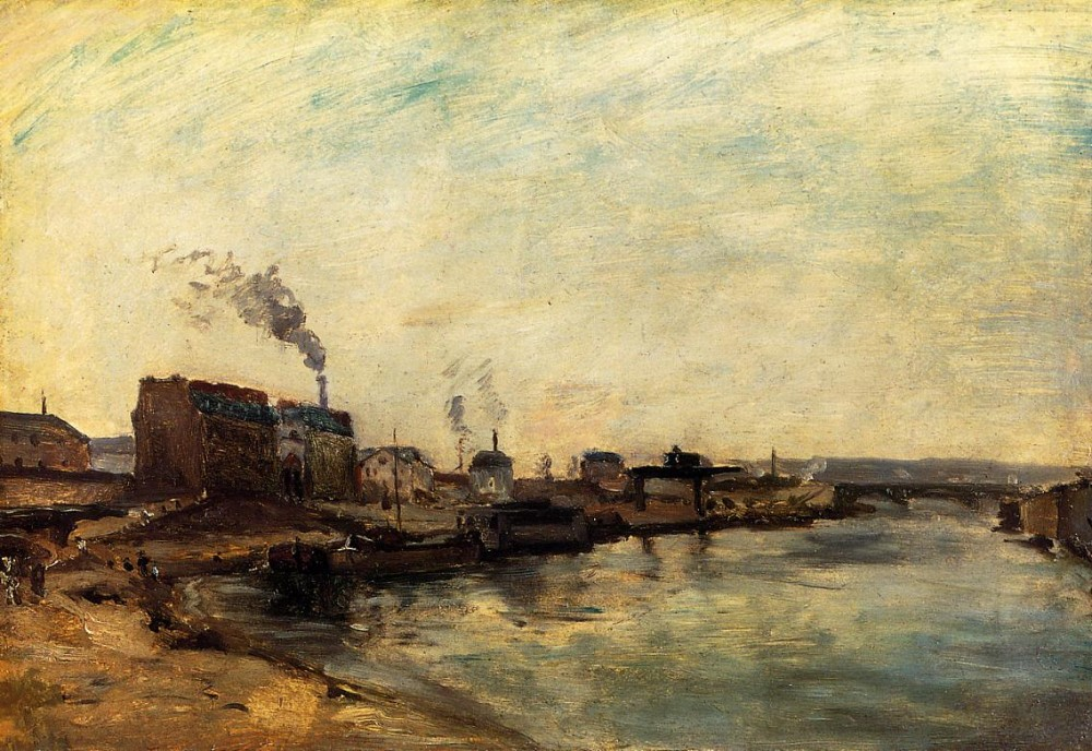 Port De Grenelle by Eugène Henri Paul Gauguin