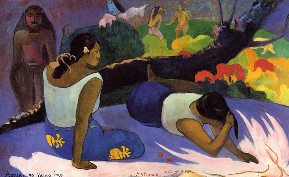 Arearea No Varua Ino by Eugène Henri Paul Gauguin