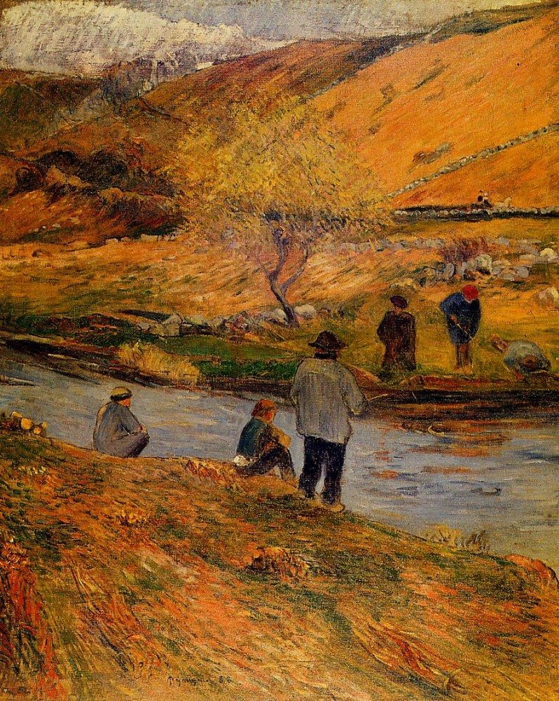 Breton Fishermen by Eugène Henri Paul Gauguin