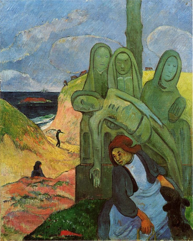 Green Christ by Eugène Henri Paul Gauguin