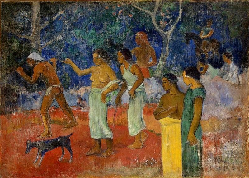 Scenes From Tahitian Live by Eugène Henri Paul Gauguin