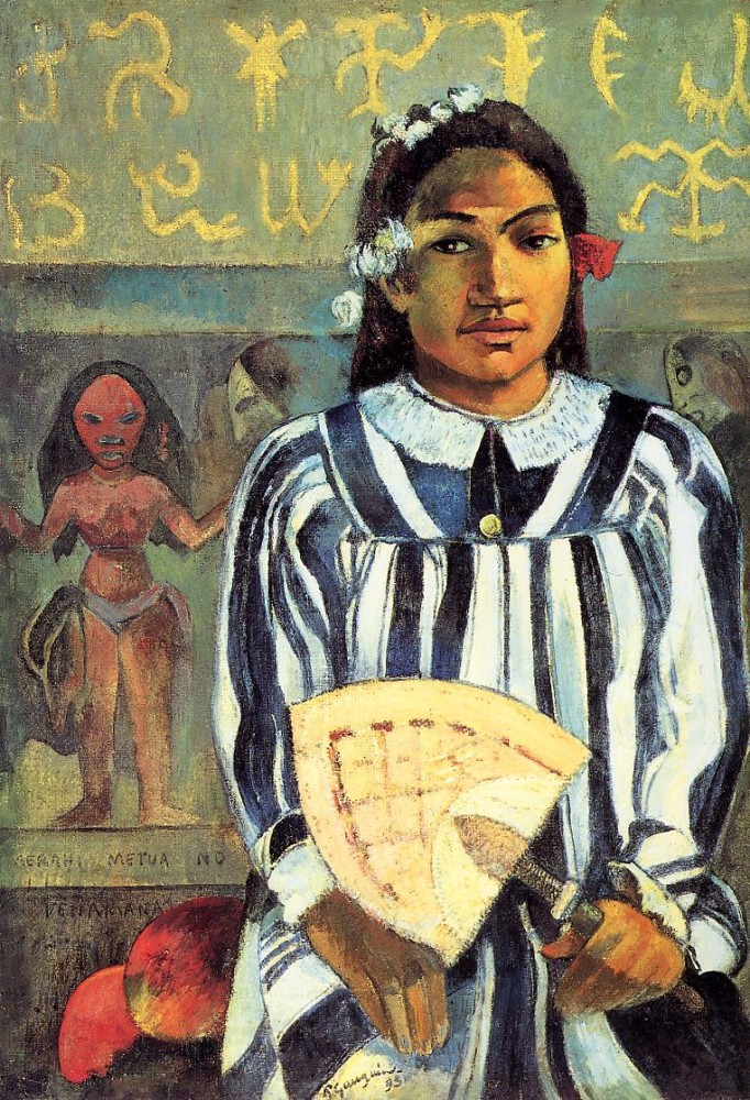 Tehamana Has Many Ancestors by Eugène Henri Paul Gauguin