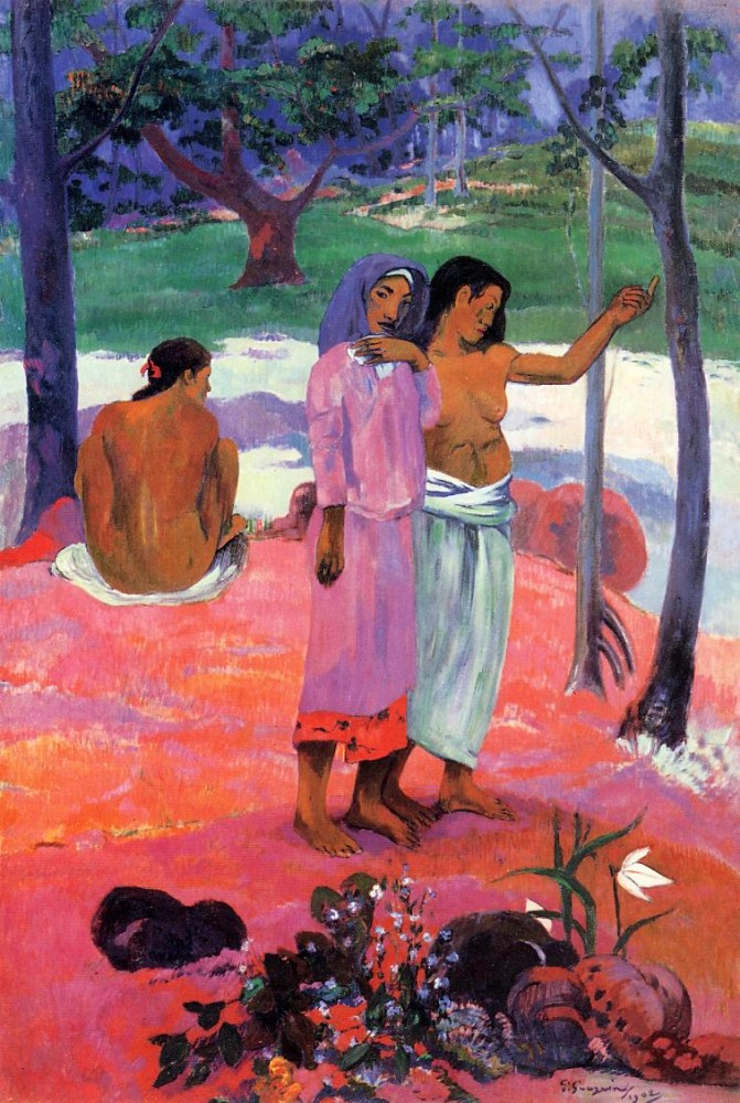 The Call by Eugène Henri Paul Gauguin