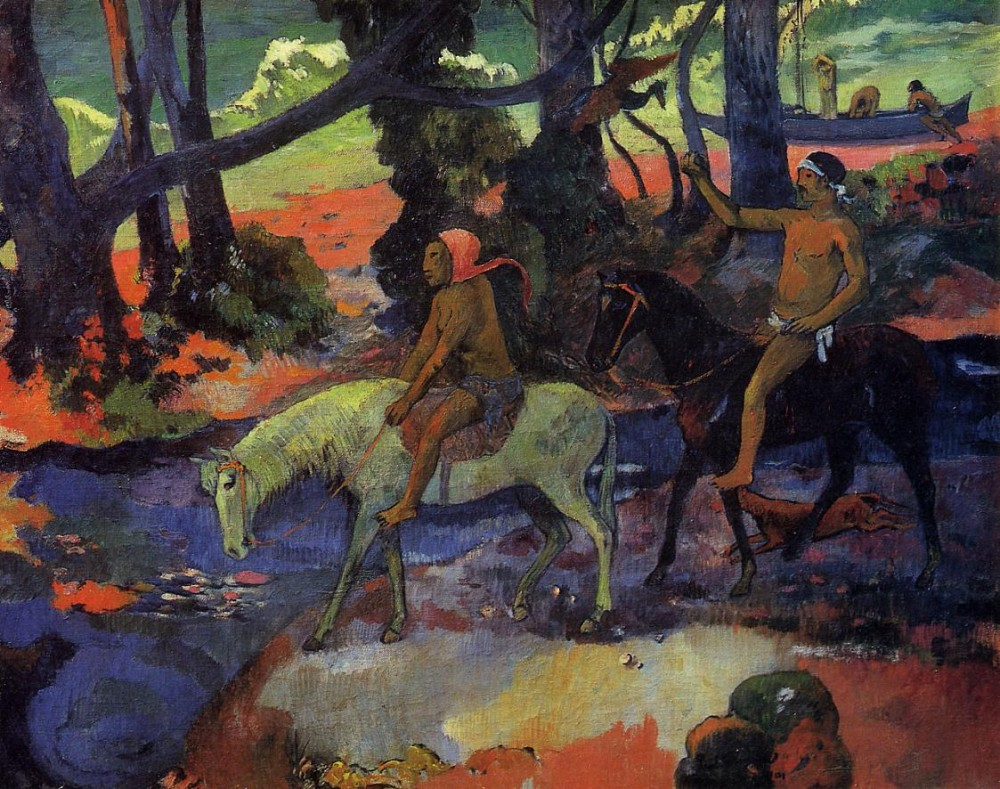 The Ford by Eugène Henri Paul Gauguin
