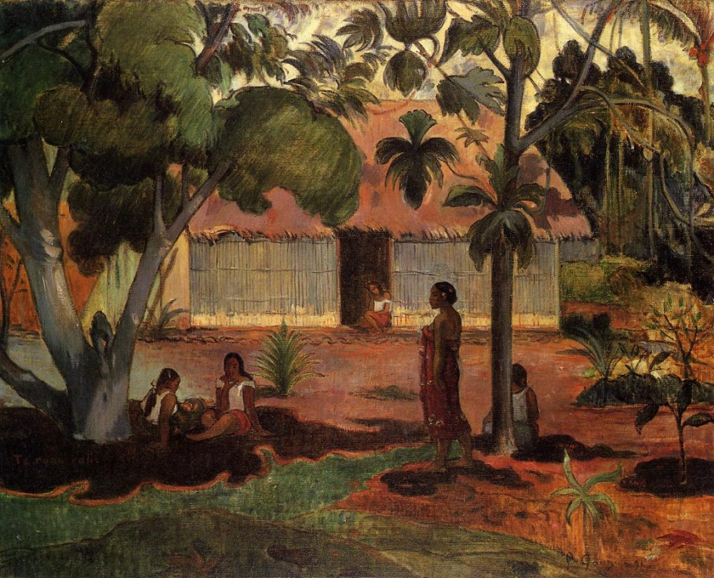 The Large Tree by Eugène Henri Paul Gauguin