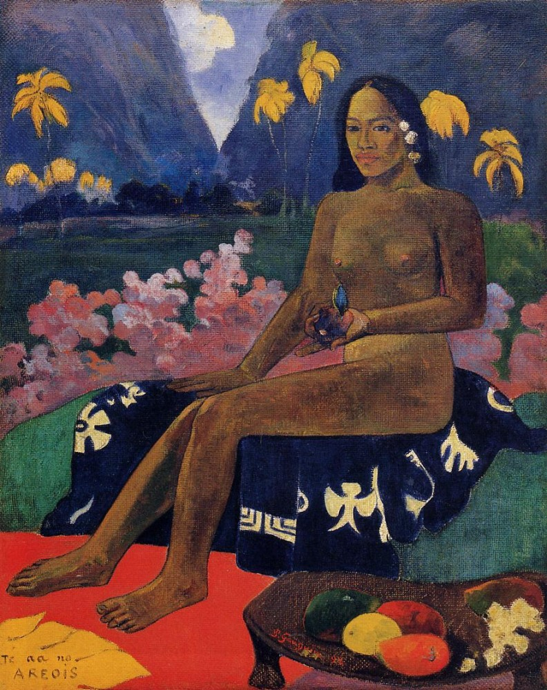 The Seed Of Areoi by Eugène Henri Paul Gauguin