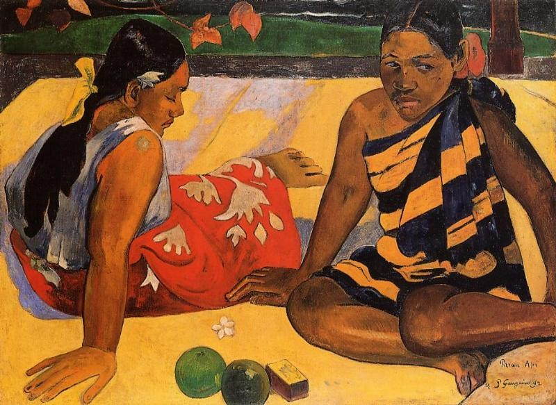 What News by Eugène Henri Paul Gauguin