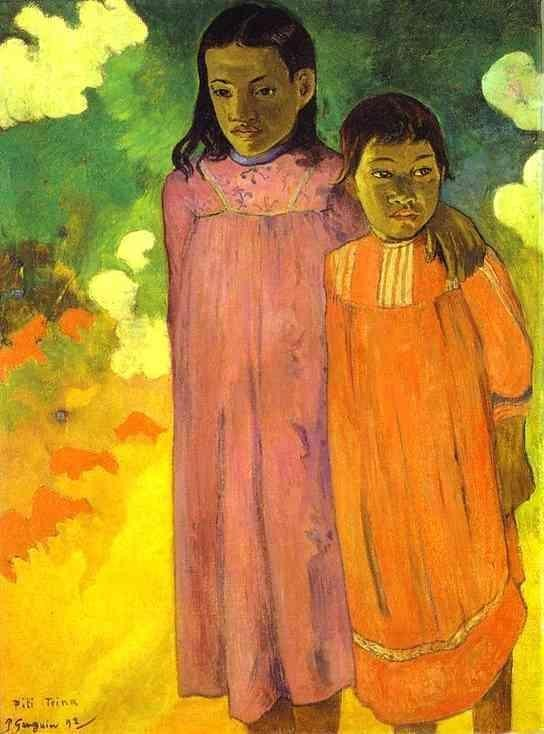Two Sisters by Eugène Henri Paul Gauguin