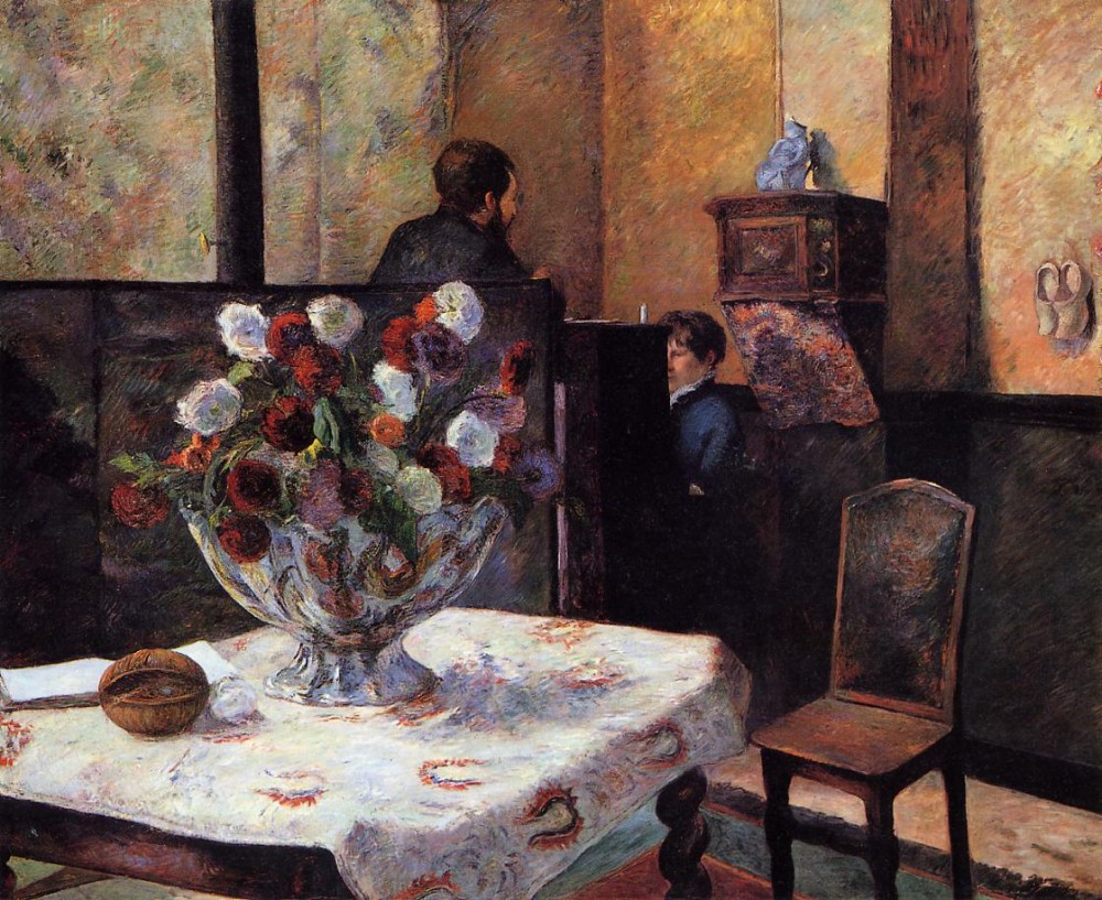 Interior Of The Painter's House, Rue Carcel by Eugène Henri Paul Gauguin