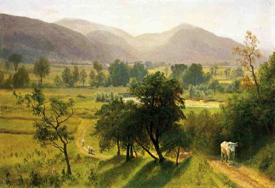 Conway Valley, New Hampshire by Albert Bierstadt