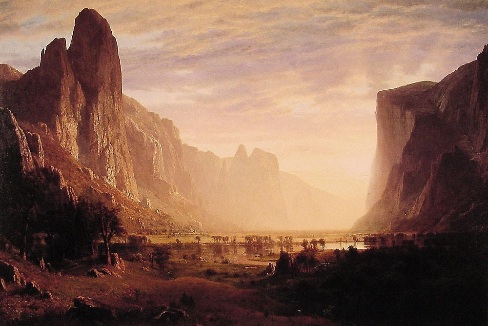 Looking Down Yosemite-Valley by Albert Bierstadt