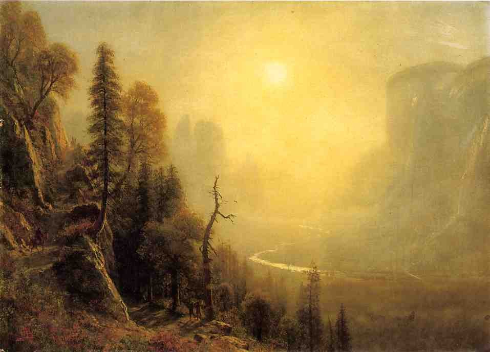 Study for Yosemite Valley Glacier Point Trail by Albert Bierstadt