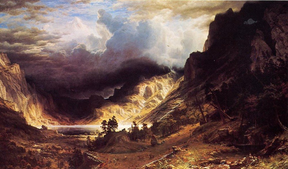 A Storm in the Rocky Mountains Mr. Rosalie by Albert Bierstadt