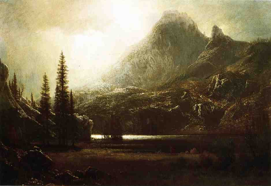By A Mountain Lake by Albert Bierstadt
