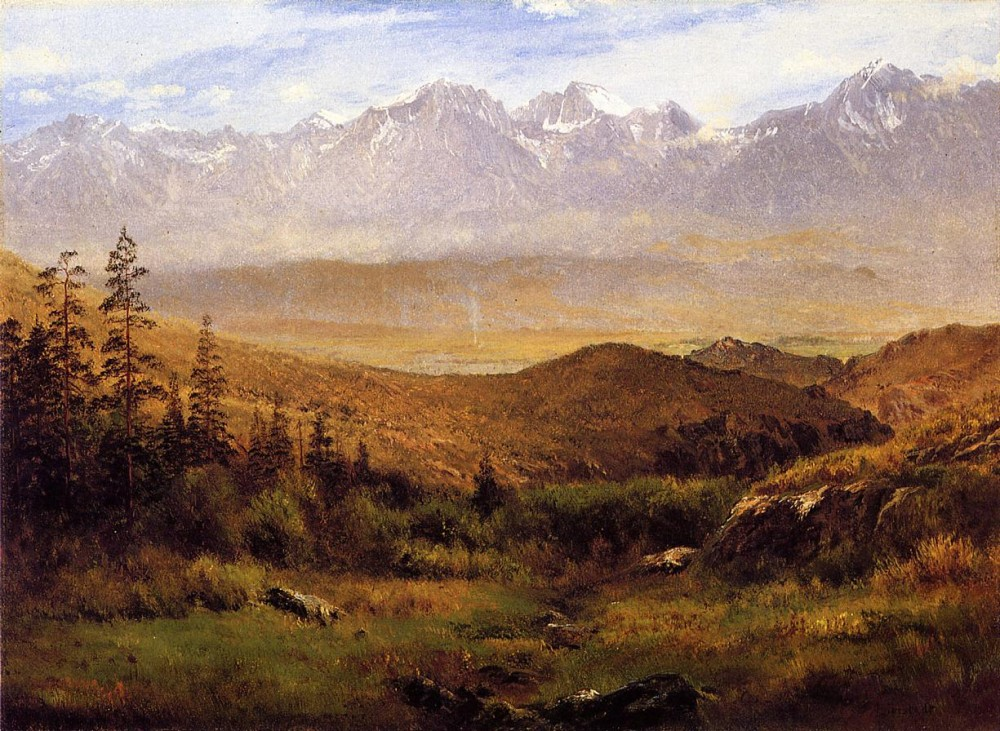 In The Foothills of the Mountains by Albert Bierstadt