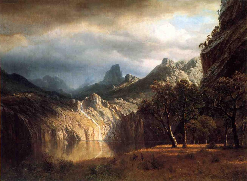 In Western Mountains by Albert Bierstadt