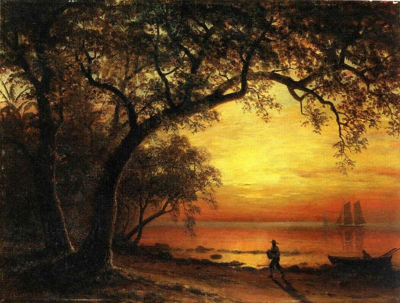 Island of New Providence by Albert Bierstadt