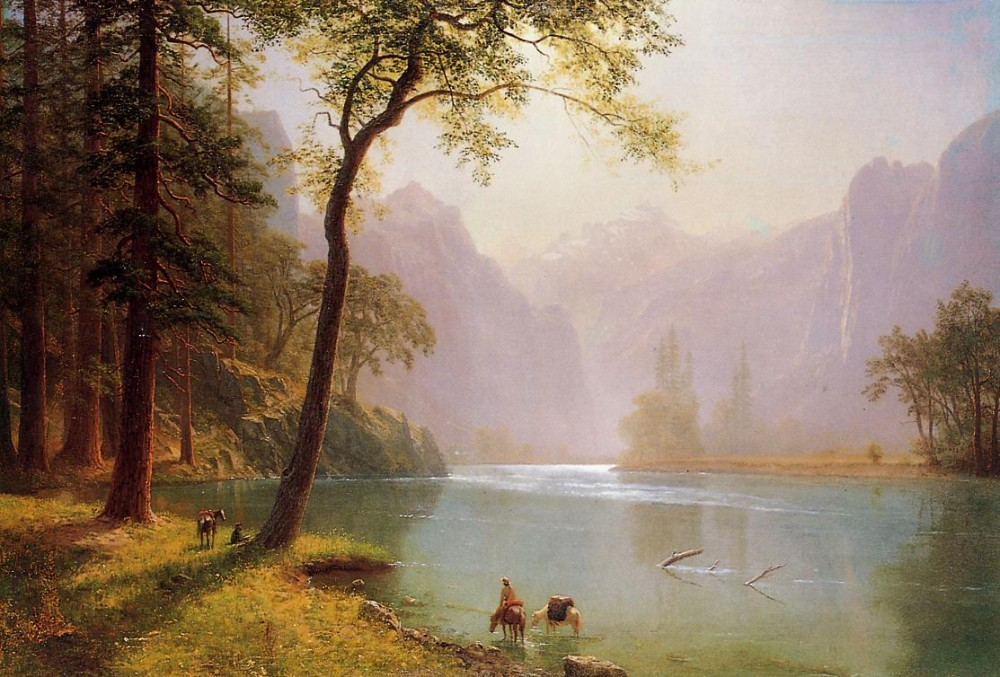 Kern-s River Valley California by Albert Bierstadt
