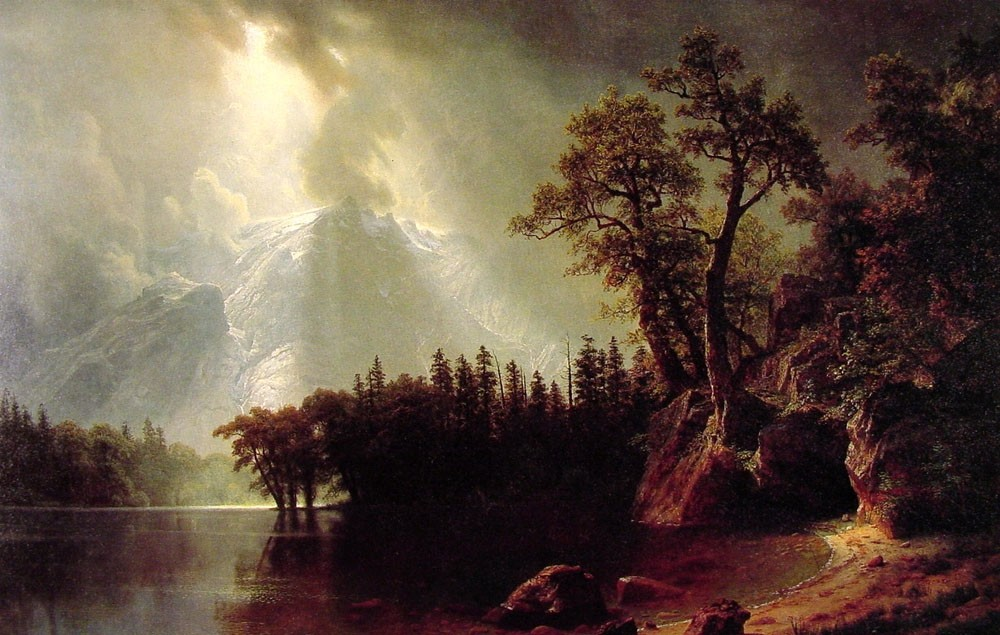 Passing Storm Over The Sierra Nevada by Albert Bierstadt