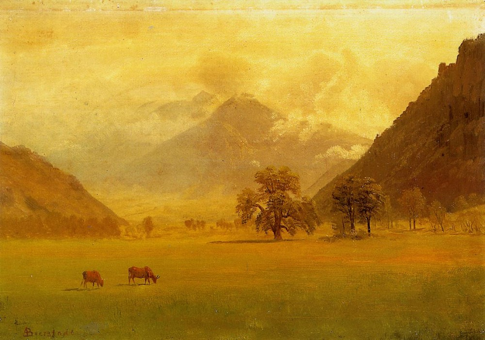 Rhone Valley by Albert Bierstadt