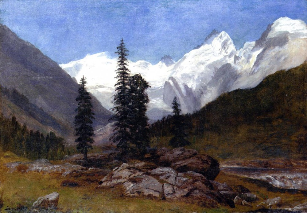 Rocky Mountain by Albert Bierstadt