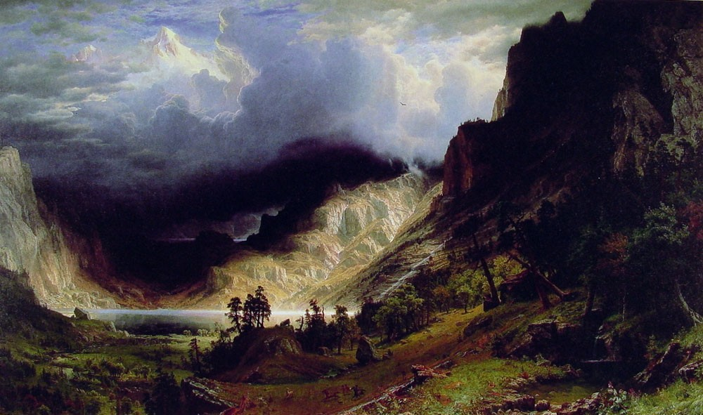 Storm in the Rocky Mountains by Albert Bierstadt