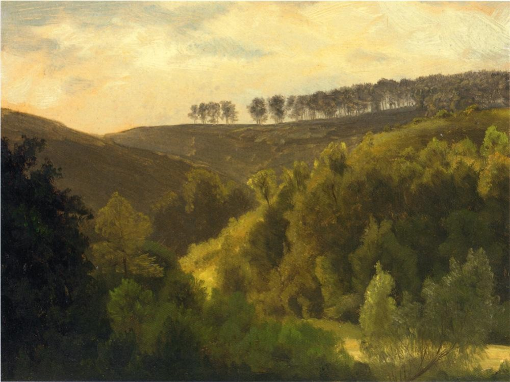 Sunrise Over Forest and Grove by Albert Bierstadt