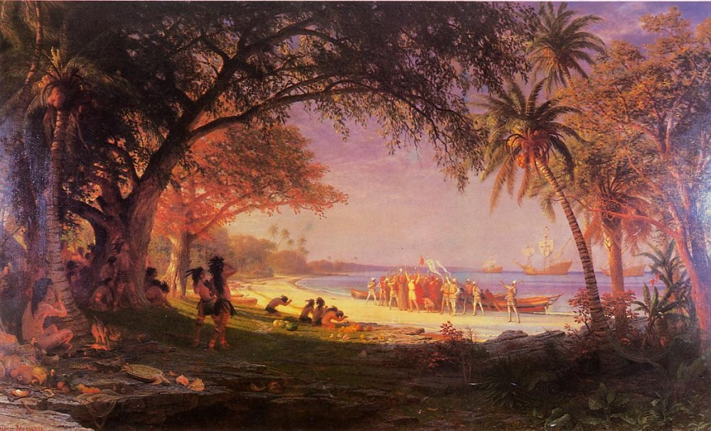 The Landing of Columbus by Albert Bierstadt