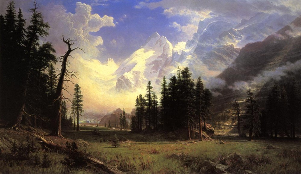 The Morteratsch Glacier Upper Engadine Valley Pontresina by Albert Bierstadt