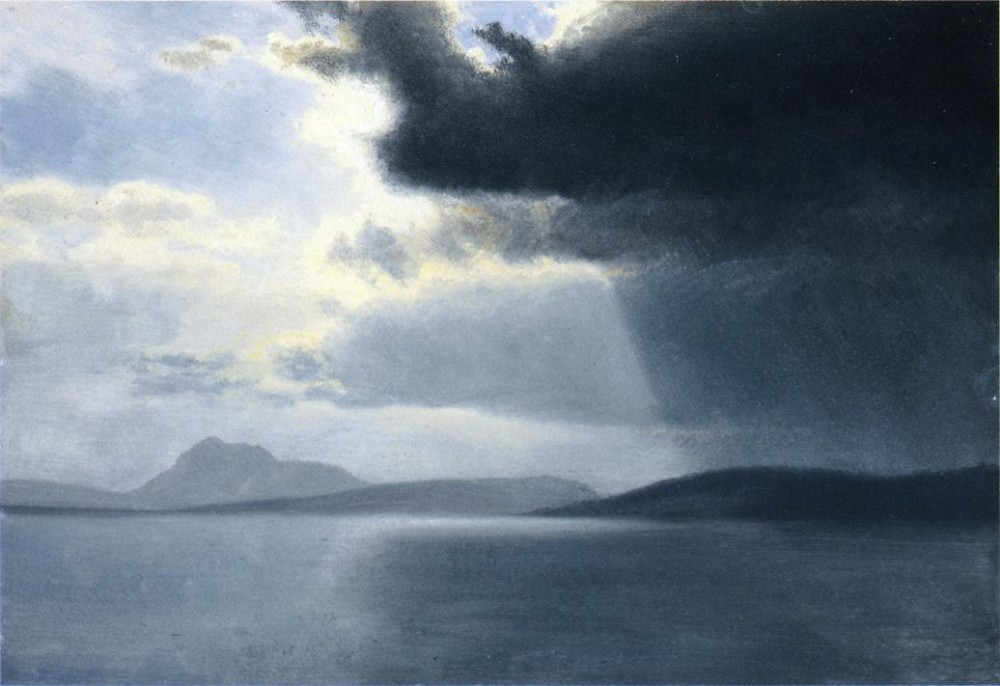 Approaching Thunderstorm On The Hudson River by Albert Bierstadt
