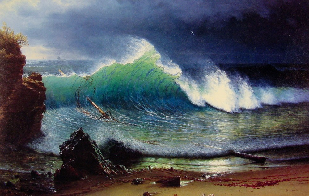 The Shore of the Turquoise-Sea by Albert Bierstadt