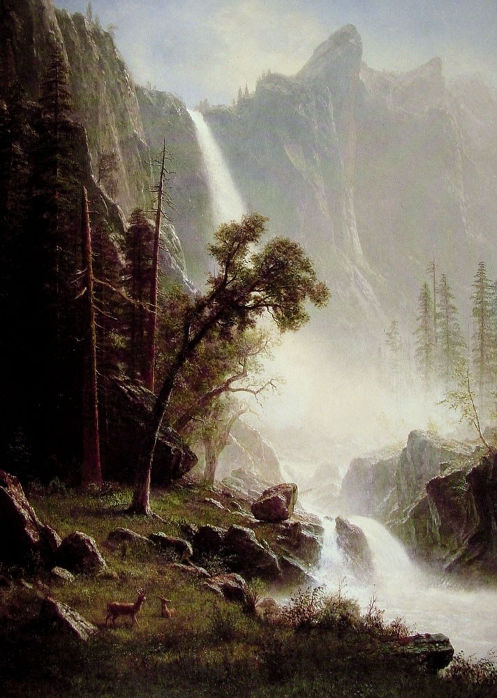 Bridal Veil Falls by Albert Bierstadt