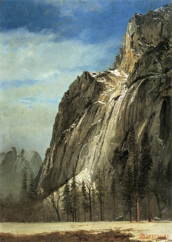Cathedral Rocks A Yosemite View by Albert Bierstadt