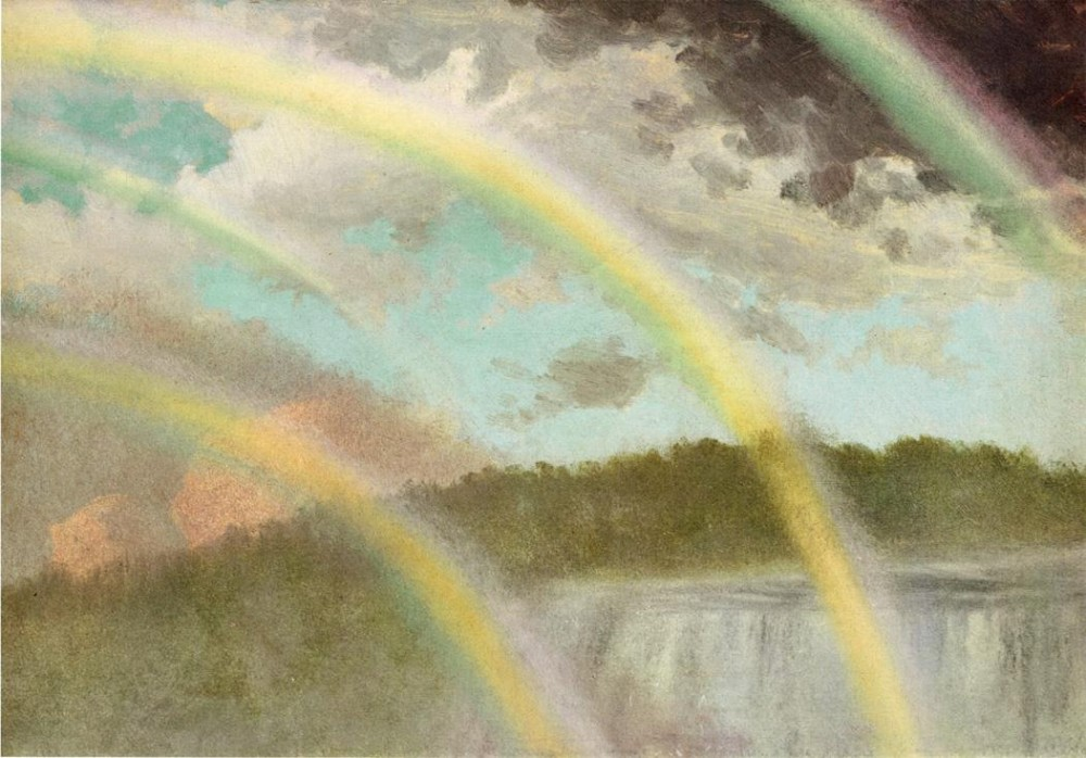 Four Rainbows Over Niagara Falls by Albert Bierstadt