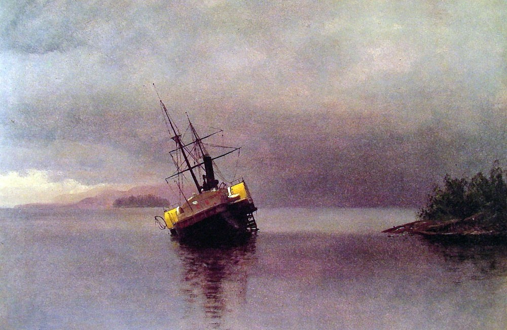 Wreck of the Ancon in Loring Bay by Albert Bierstadt
