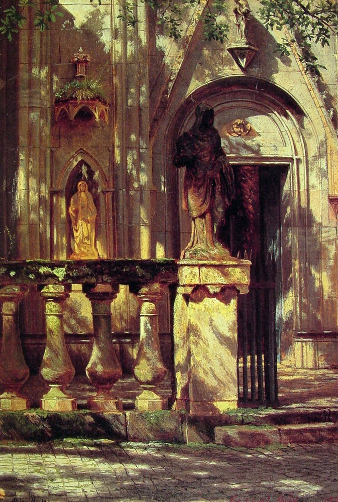 Sunlight and Shadow Study by Albert Bierstadt