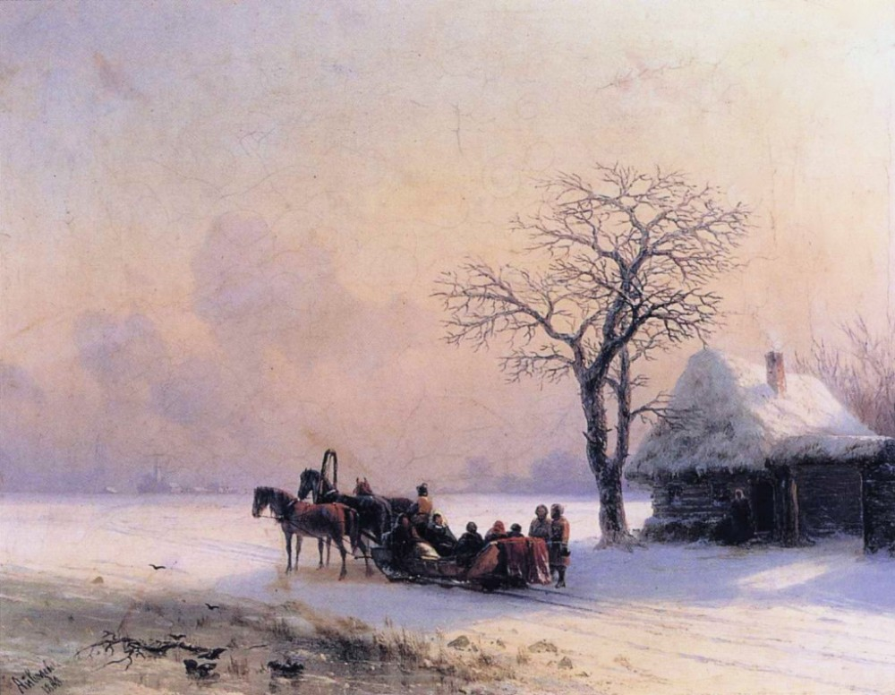 Winter Scene In Little Russia by Ivan Konstantinovich Aivazovsky