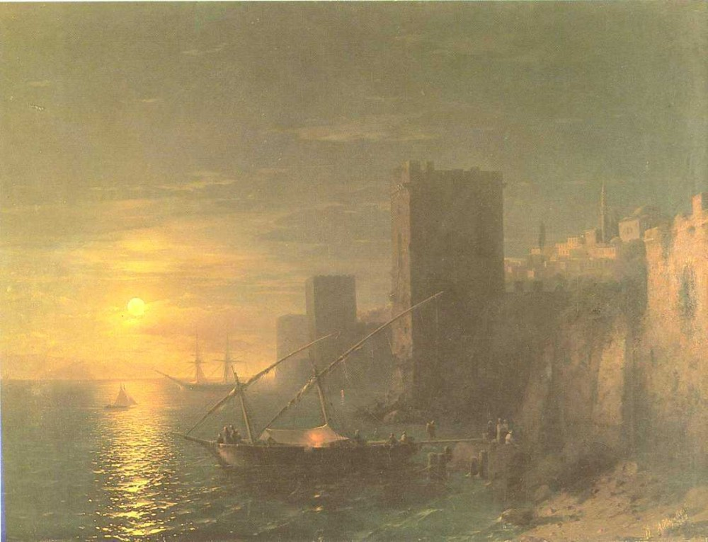 A Lunar Night In The Constantinople by Ivan Konstantinovich Aivazovsky
