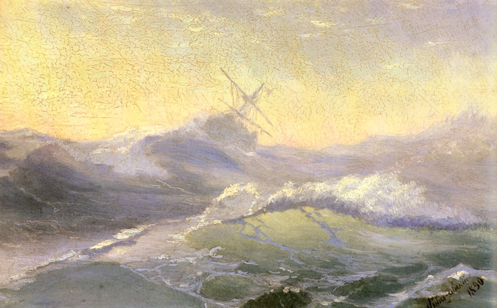 Bracing The Waves by Ivan Konstantinovich Aivazovsky