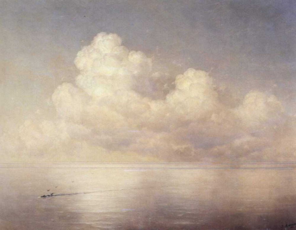 Clouds Above A Sea, Calm by Ivan Konstantinovich Aivazovsky