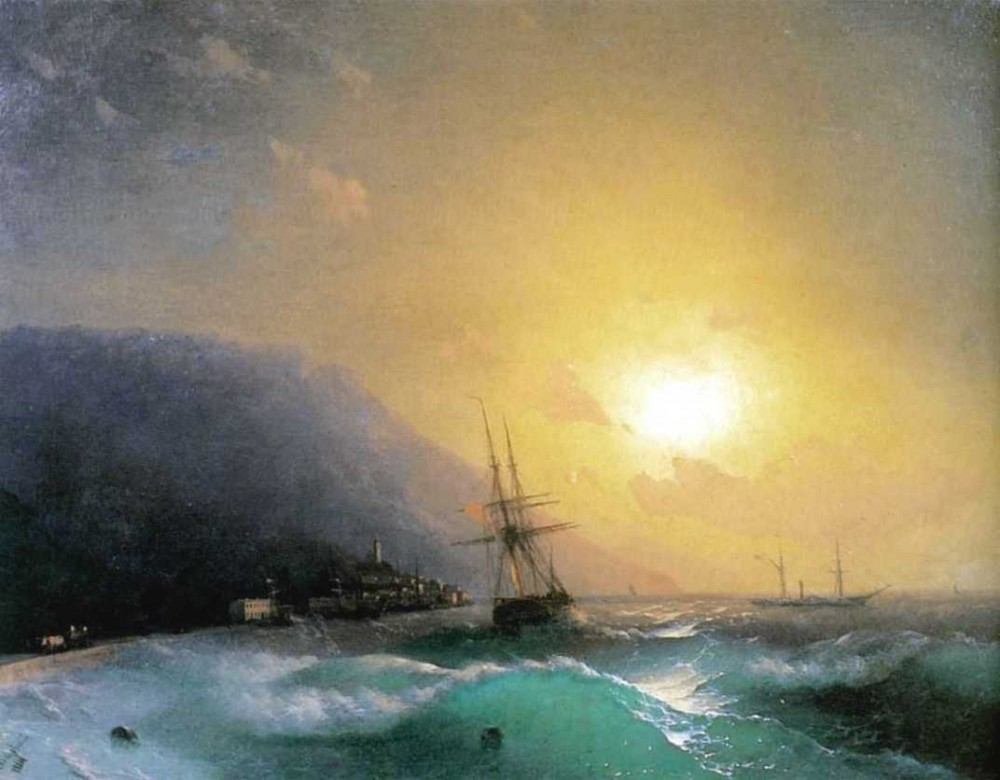 Near Coast Of Yalta by Ivan Konstantinovich Aivazovsky